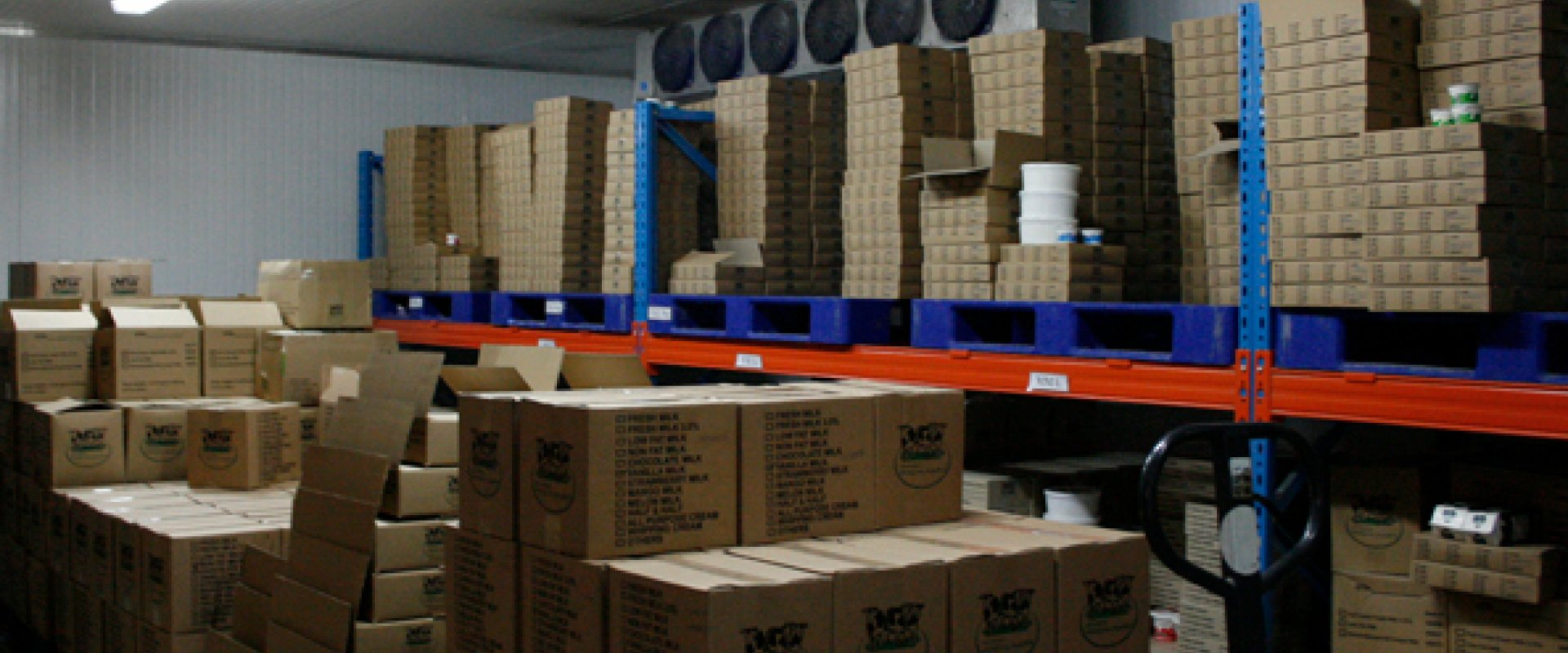 Sufficient cold storage and facilities and efficient delivery system